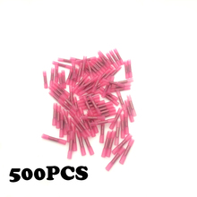 500pcs Insulated Heat Shrink Butt Connectors Wire Electrical Crimp Terminals 22-18AWG Kit Wire waterproof middle connector cold