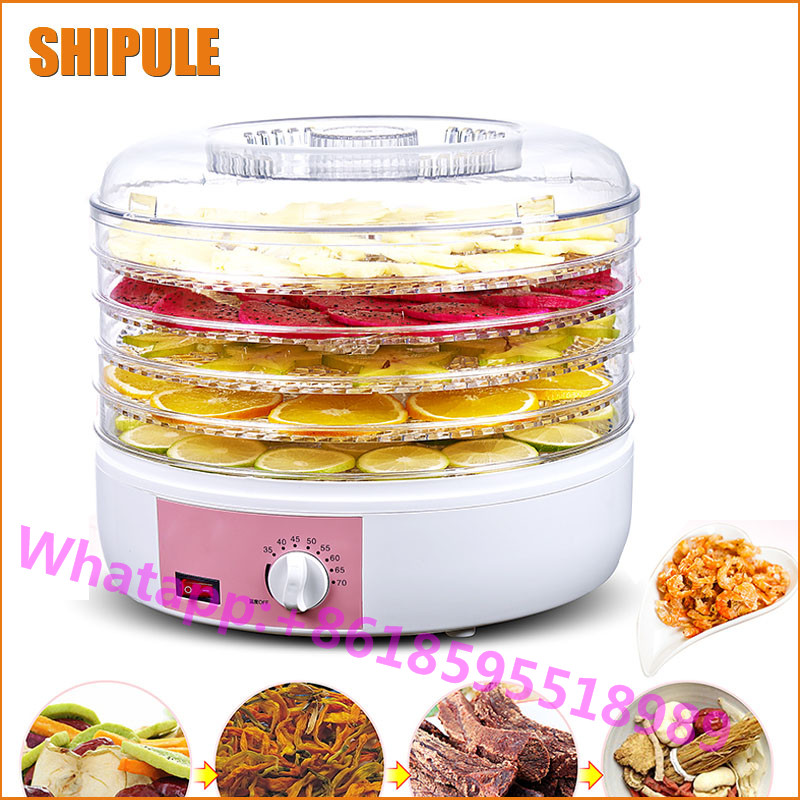 SHIPULE Multifunctional household fruit dryer 6 Trays Food dryer machine for sale shanghai kuaiqin kq 5 multifunctional shoes dryer w deodorization sterilization drying warmth