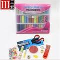 39 cores + 10 acessórios de Máquinas de alta qualidade carretéis Poliéster sewing Para Mão Carretéis De Linha de Costura