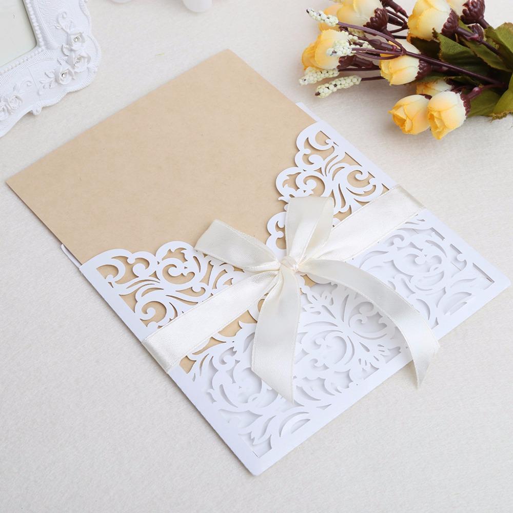 10 шт. свадебные комплект пригласительных билетов с конвертами уплотнители персонализированная печать
