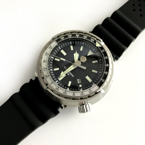 Image 2 - טונה SBDC035 אופנה שעון פוטודינמי אנרגיה קוורץ גברים שעון StainlessSteel צלילה שעון 300mWater עמיד שמש שעוני יד
