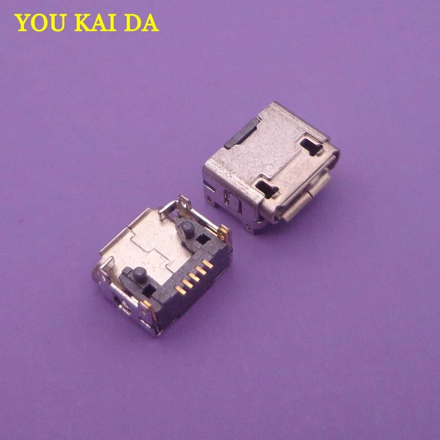 100pcs lot micro mini usb jack socket connector For Amazon charging port dock plug female pcb