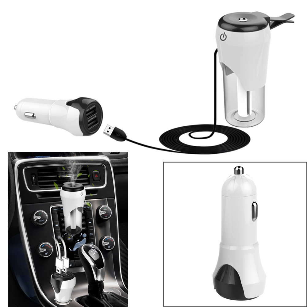Universal Vehicle Car Humidifier Air Purifier with Dual USB Car Charger auto Oxygen Bar suit Aromatherapy Mist Maker Fogger New