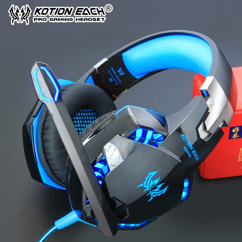 KOTION EACH Gaming Headphones With Microphone Stereo Headset Big Earphone Game wired For Computer laptop PS4 PRO gamer