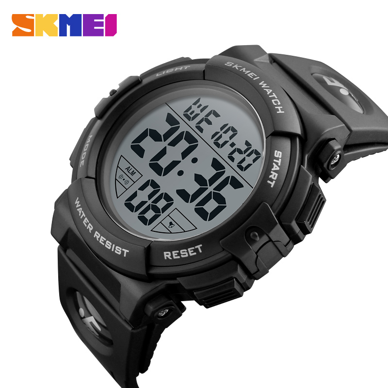 SKMEI Sport Watch Men Fashion Electronic Chrono Watches 50M Waterproof Alarm Clock Digital Wristwatches Relogio Masculino 1258 skmei 1055 fashion 50m waterproof student led electronic sport watch