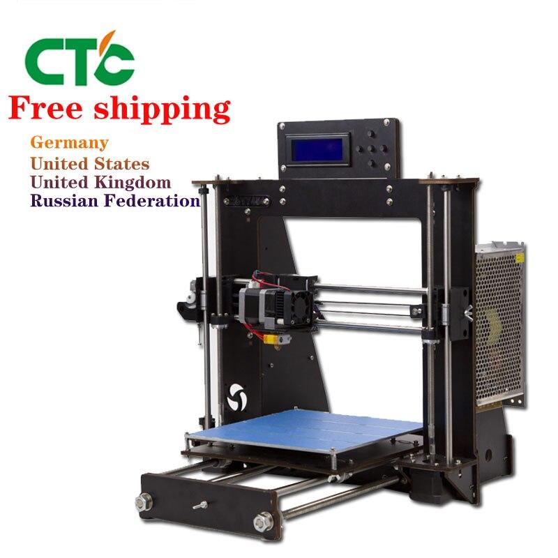 CTC 3D Imprimante Cadre Haute Précision Impressora Kit DIY i3 Upgradest Haute Précision Reprap Prusa 3d Drucker