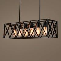 Черный винтаж промышленных подвесной светильник Лофт стиль огни Nordic ретро лампы для мотоциклов паук 4/6 голов Edison обеденная лампа