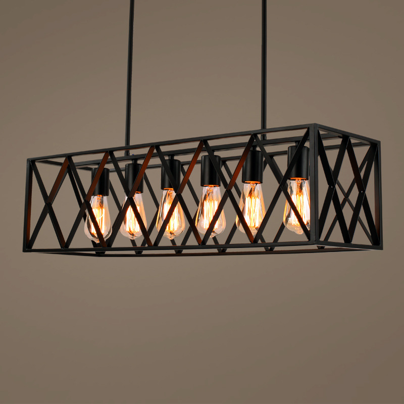 Black Vintage Industrial Pendant Light Loft Style Lights Nordic Retro Lamps Spider 4/6 Heads Edison Dining Room Lamp retro loft style industrial vintage pendant lights hanging lamps edison pendant lamp for dinning room bar cafe