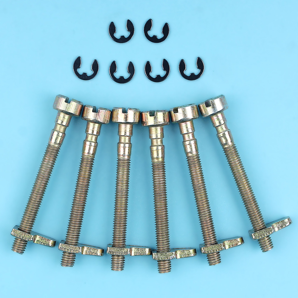 6 X Chain Tensioner Adjuster Screw Kit For HUSQVARNA 36 41 136 137 141 142 235 240 E Chainsaw Replacement Spare Parts