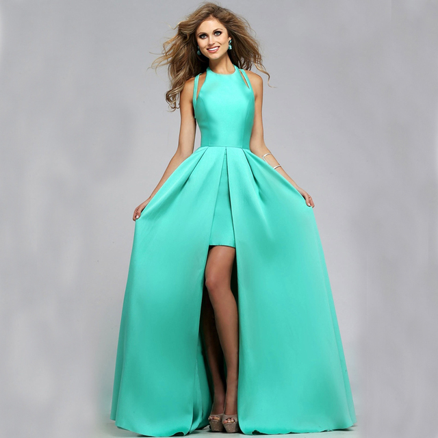 Mint Green High Low Dress