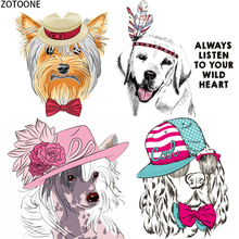 ZOTOONE Cute Cartoon Dogs Sequin Patches for Clothing Puppy Iron on Embroidered Patch Appliques Diy Stickers Clothes Badges E