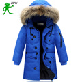 High quality 2016 boy's long for youth children cuhk more down jacket boy winter childrens fur coat boys parka kids clothes 587