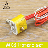 MK8 Assembled Extruder Hot End Kit For Prusa I3 3D Printer 12v 24v 1 75mm 0