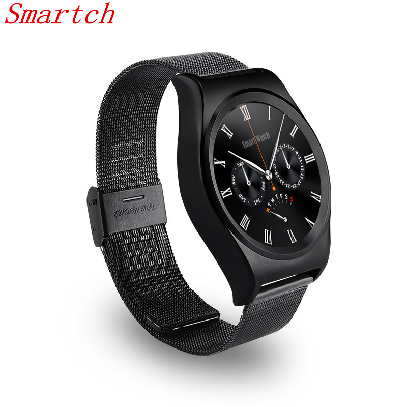 Smartch Smartwatch <font><b>X10</b></font> Smart <font><b>Watch</b></font> Bluetooth Heart Rate Monitor Sports Health Rounded Waterproof Smartwatches For Iphone Android image