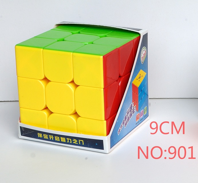 Hot Selling Hesu 9cm 3x3x3 Cube Big Magic Cube Puzzle 3x3 Speed Cube Stickerless Professional Educational Toys For Kid Best Gift