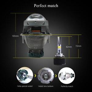 Image 3 - Sanvi 2pcs D2H 5500K 3000K bianco giallo doppio colore LED lampadina del faro con obiettivo HD Bi LED lente Hella per fendinebbia LED