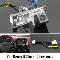 Laijie Car Backup Camera With 24Pin Adapter Cable For Renault Clio 4 IV 2012~2017 / OEM Monitor Compatible Rear View Camera / HD