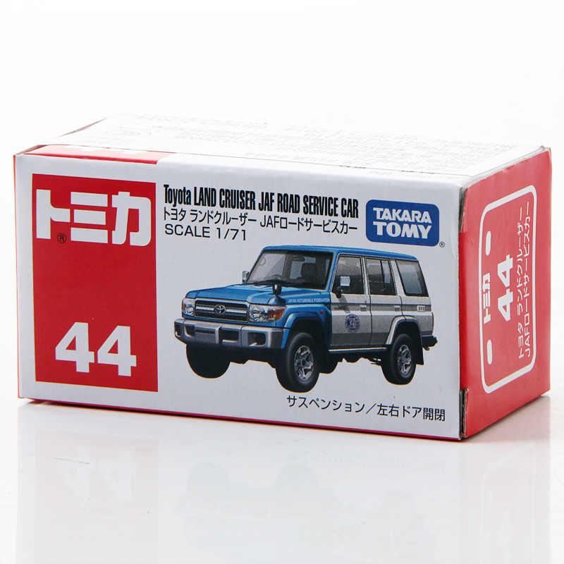Takara Tomy Tomica 1/71 Toyota Land Cruiser JAF Serviço da Estrada Carro Modelo Diecast Metal Toy Vehicle Car New #44
