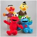 2016 Sesame Street Elmo Peluche Toys Baby Kids Children Cartoon Stuffed Plush Stuffed Dolls Brinquedos Gift 4pcs/lot 20-24cm