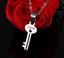 Heart Lock and Key Couples Necklace His and Hers Couple or Best Friend Pair of Necklaces Silver Heart Shaped Lock and Key