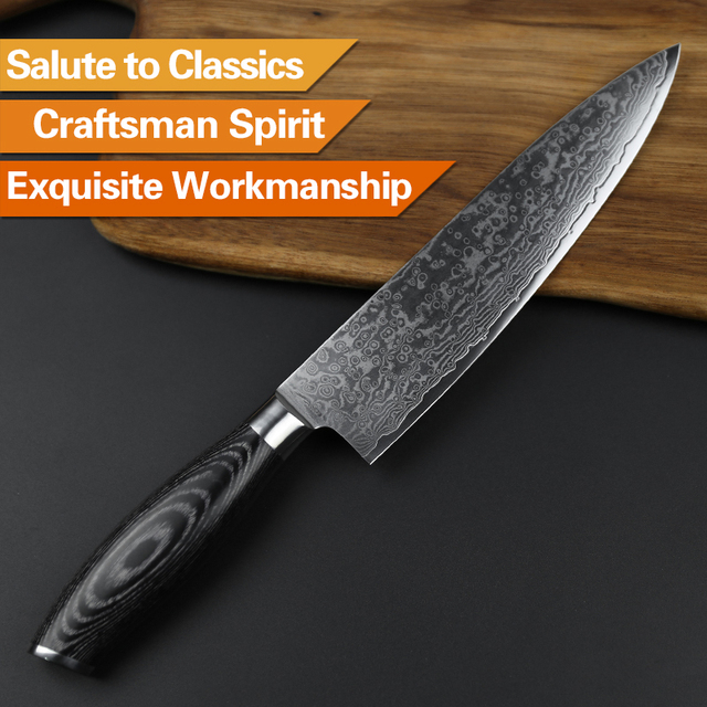 damascus kitchen knives barn doors xinzuo 8 inches chef knife gyuto japanese vg10 array stainless