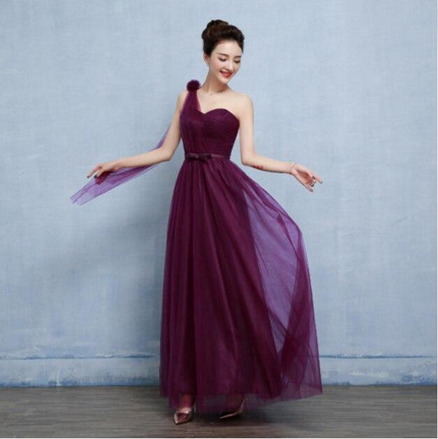Vestidos de dama de honor morados