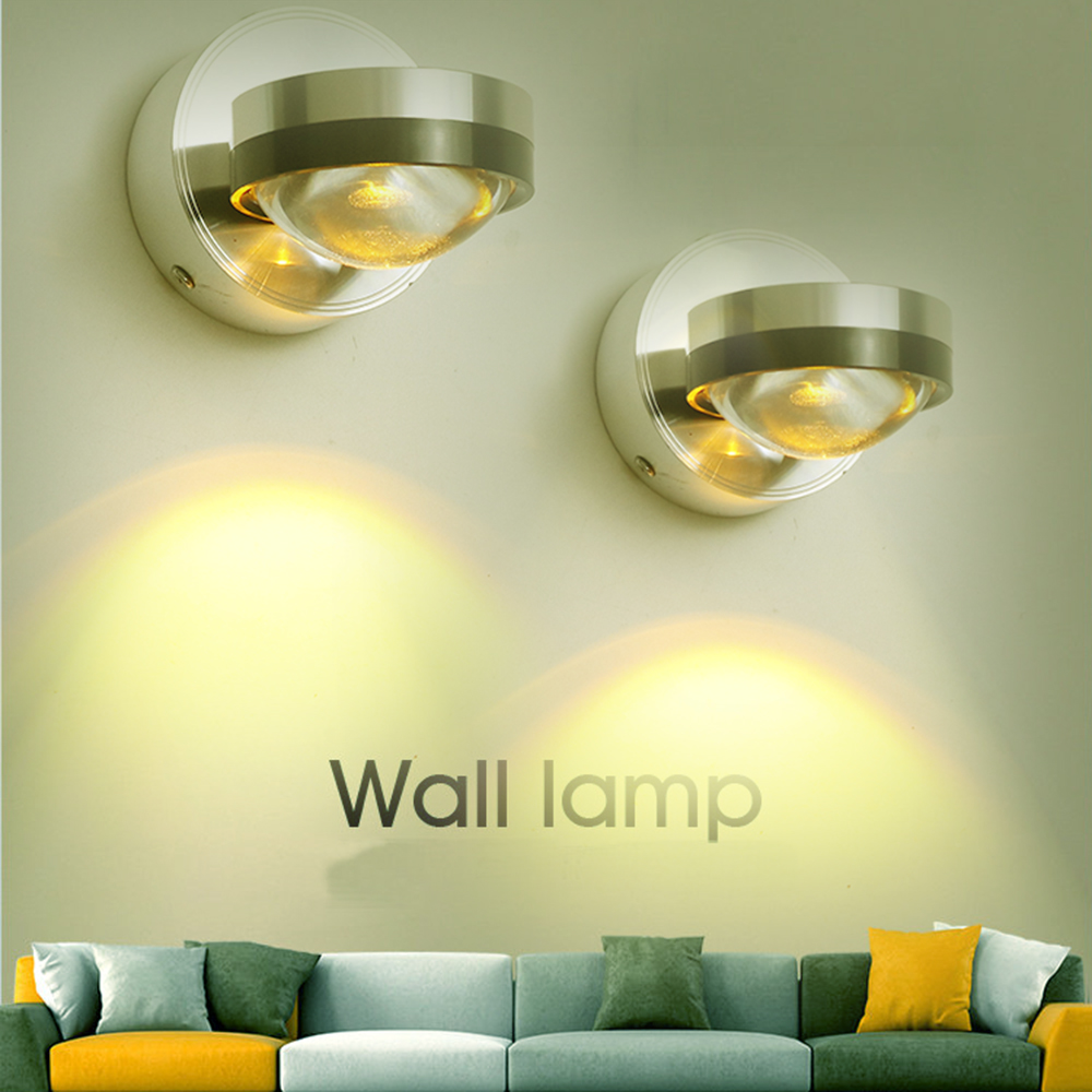 Moden Led wall Lamp Sconce 3W with Convex mirror light Aluminum 110V ...