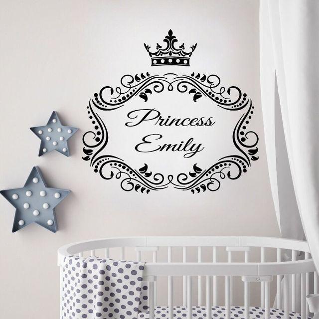 Girl Room Decor Princess Custom Name Wall Decals Nursery Princess ...