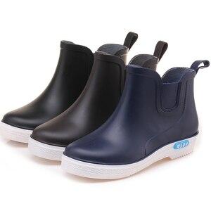 Image 5 - Swyovy Botas de lluvia impermeables para mujer, zapatos de agua, botas de agua para mujer, 2018