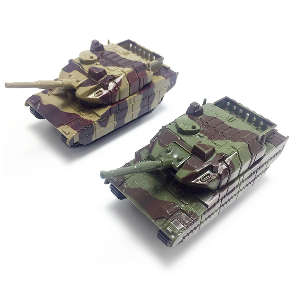 Educational Gifts Soldiers Tank Toy Children Military Vehicles Kids Plastic Model Army Mini Collection War Cannon Rotated