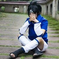 Naruto Cosplay Kostüm Uchiha Sasuke Anime Cosplay Bez Cadılar Bayramı Partisi erkek Kostümleri Yüksek Kalite