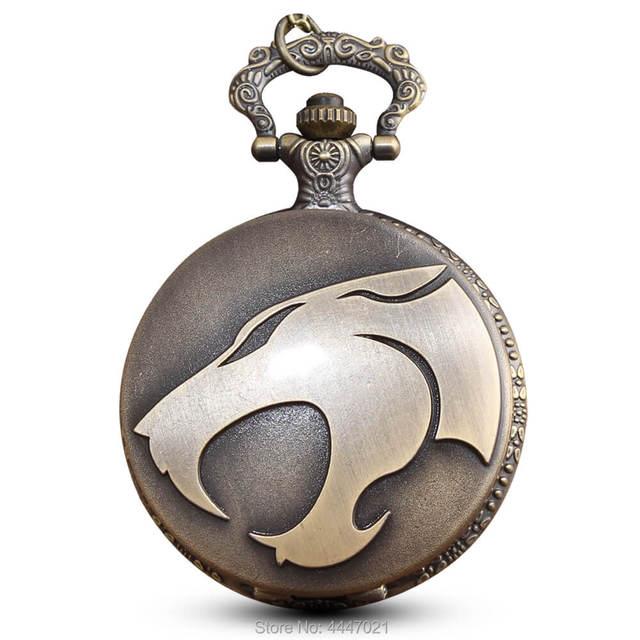 Game Of Thrones Leopard Pocket Watch Chains Necklace Bronze Quartz Fob Watches S