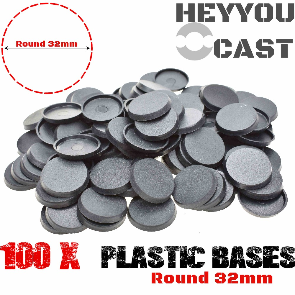 32mm Plastic bases table games 100pcs model bases 32mm round bases