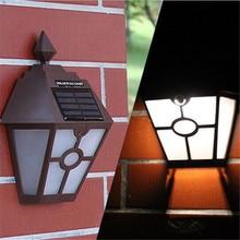 1X Outdoor Solar Light for Garden/Wall/Porch,Solar Panel Light,Waterproof Garden 2Led Solar Lights, Vintage Hexagon Wall Lamp