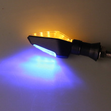 4pc LED Turn Signal Motorcycle Turn Signals Light Tail Lights Indicators For Moto Motorbike Motorcycle Accessories Yellow Blue