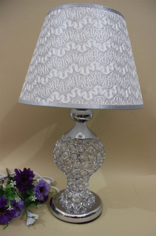 цена romantic european luxury /modren led Crystal Table Lamp Modern Art For Bedroom Living Room Bedside Lamp