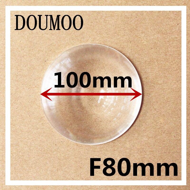 5 vnt. / Partija PMMA apskrito objektyvas Fresnel objektyvo skersmuo 100 mm Židinio nuotolis 80 mm Fresnel objektyvas Didelės šviesos kondensatorius DIY fresnel objektyvas
