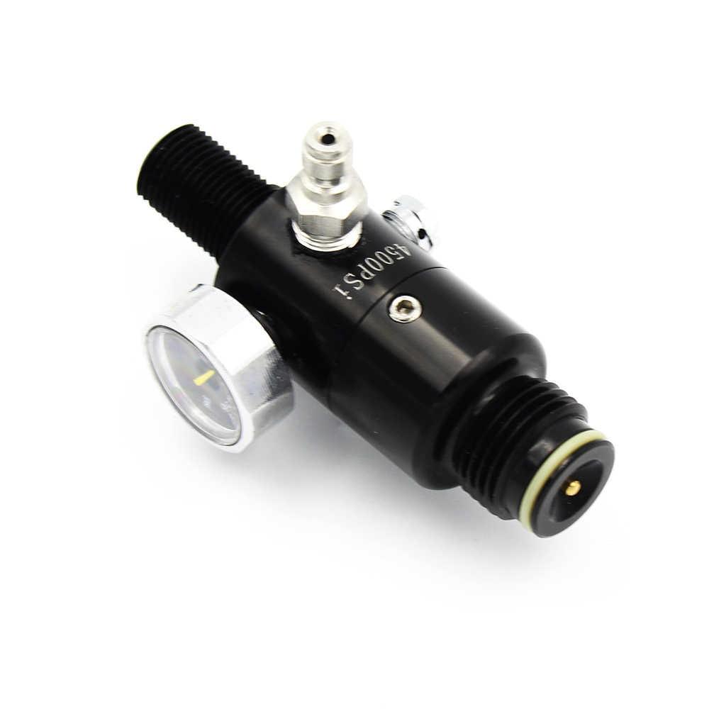 PCP الألوان الغوص HPA تانك ملء Vavle M18x1.5 منظم صمام الأسود 4500psi مدخل 2200psi الضغط الناتج 6000psi قياس