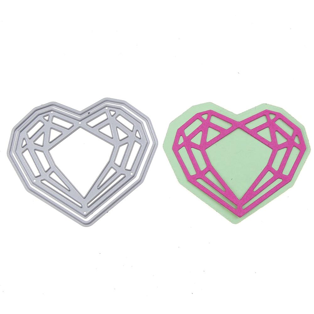 69*58mm scrapbooking DIY love diamond Shape Metal steel cutting die flower Shape Book photo album art card Dies Cut