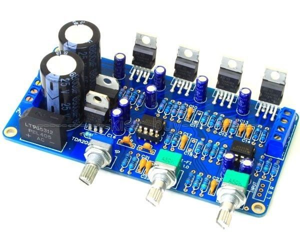 TDA2030A 2.1 Stereo Amp 2 Channel Subwoofer Audio Amplifier Board DIY kits 12V AC Dual image