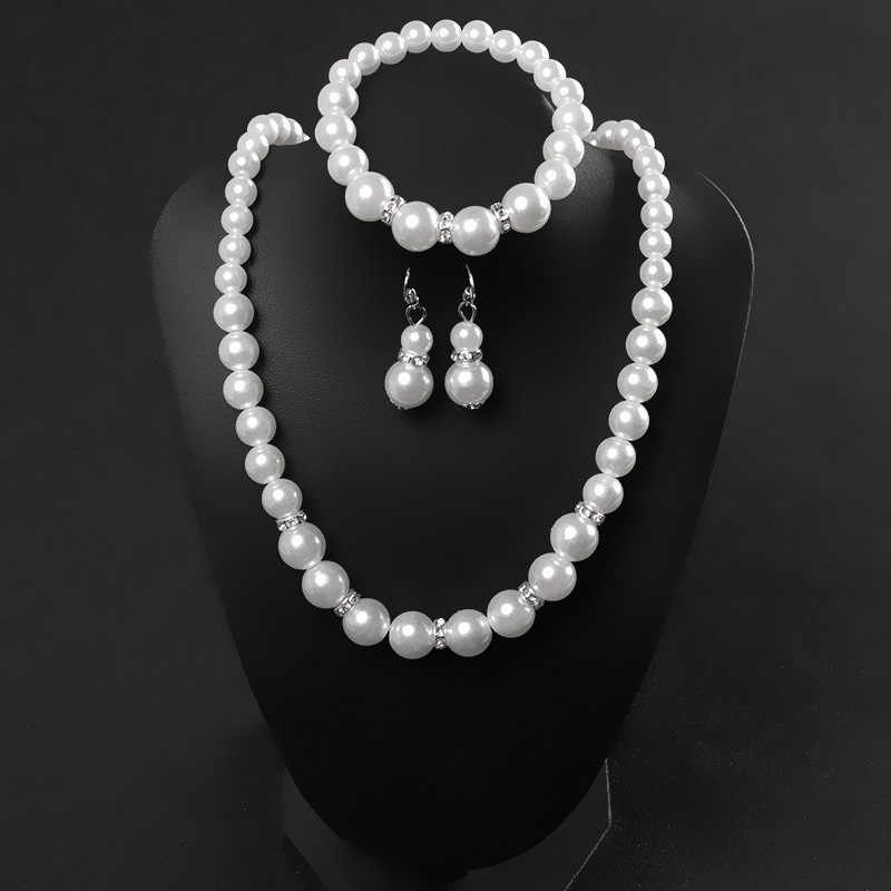 African jewelry fashion classic personality wild imitation pearl necklace bride suit wholesale Jewelry Sets Parure Bijoux Femme