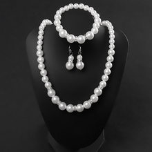 African jewelry fashion classic personality wild imitation pearl necklace bride suit wholesale Jewelry Sets Parure Bijoux Femme(China)