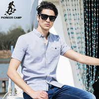 Pioneer Camp 2018 New Arrival 100% Cotton Oxford Men Shirt Slim Fit Camisa Masculina Street Soft Chemise Homme 3Xl Shirt 666210 1