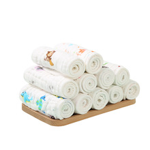5pcs Pure cotton washed gauze diapers Washable and replaceable newborn baby 12 layers 15*38cm