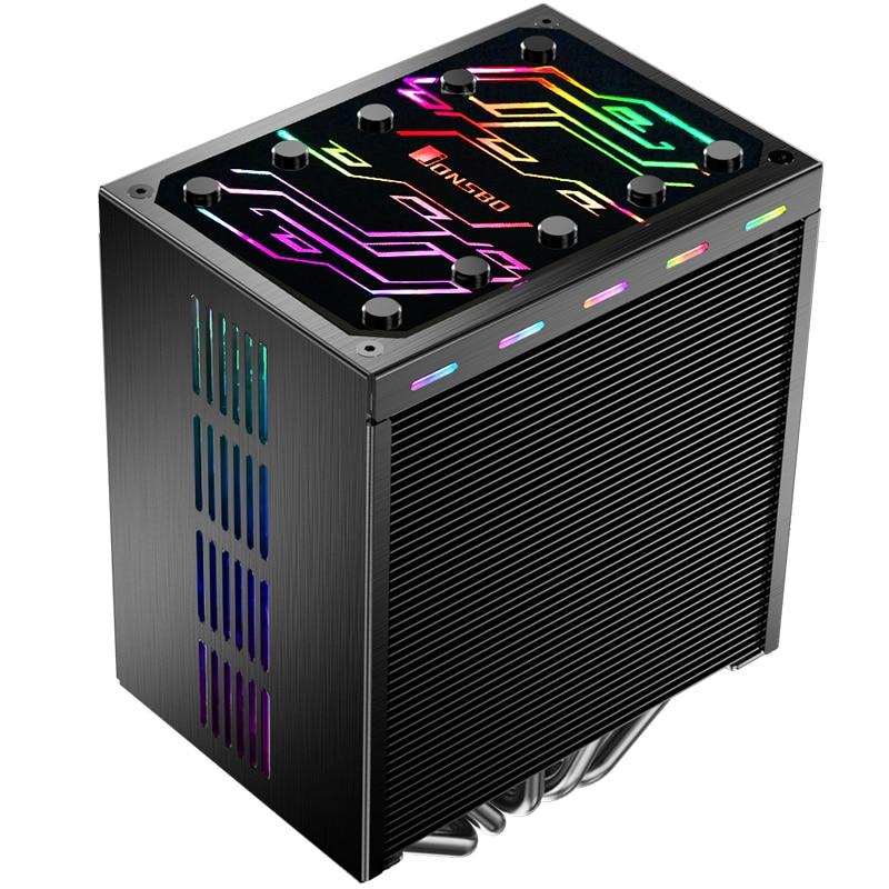 Jonsbo CR-401 CPU heatsink 5 heat pipe side blowing 12CM light effect jonsbo cr 101 desktop pc heat pipe cpu radiator light led fan
