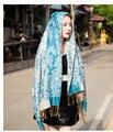 Мода Кашемировый Шарф Дизайн Для Женщин Винтаж Этническая Trend Цветочные Шарфы Теплые Платки Женские Пашмины Шарф Бесплатная Доставка