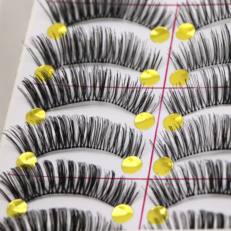 10pair Makeup False Eyelashes Individual Mink Eyelash Eye Lashes Makeup Lashes For Build ...