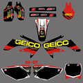 0157 Red &Black New Style TEAM GRAPHICS&BACKGROUNDS DECALS STICKERS Kits for HONDA CRF250 CRF250R 2006-2007