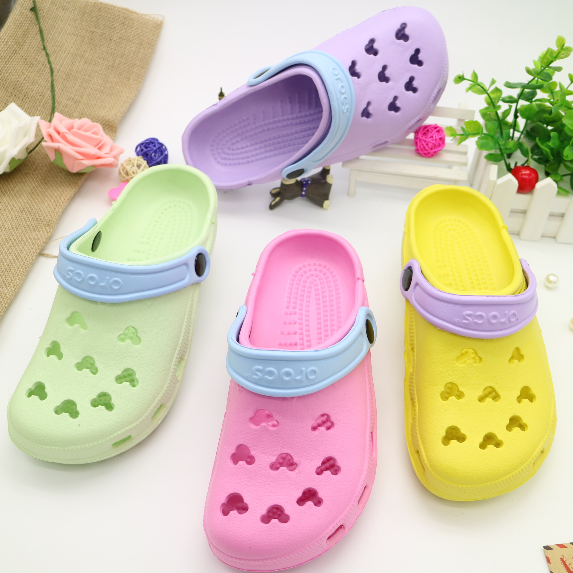 Slippers Beach Flats-Shoes Home Sandals Outdoor Garden Summer Women New N100 Breathable