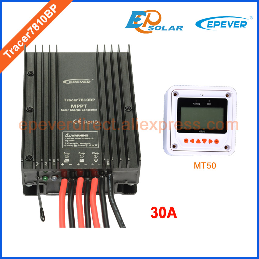 цены MPPT Solar Tracking high efficiency regulator EPEVER Tracer7810BP EPsolar charger battery solar controller 30A MT50 meter